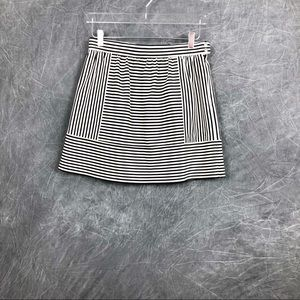 Made well striped paneled  mini skirt NWT